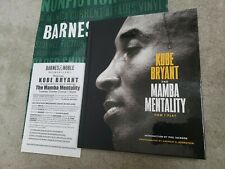 Kobe Bryant MAMBA Mentality Hardcover Book signed autographed +flyer Lakers NBA
