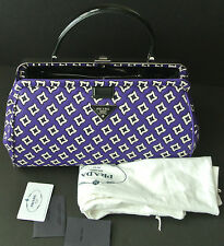 Prada Tessuto Jacquard Top Handle Bag Retail $2,200 NEW