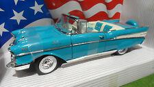 CHEVROLET CHEVY BEL AIR cabriolet bleu au 1/18 AMERICAN MUSCLE ERTL 7026 voiture