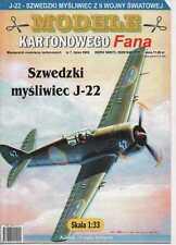 1:33 scale - Swedish fighter J-22 (1945) -  Paper Card Model