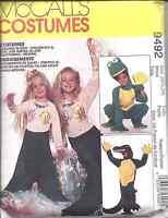 7852 UNCUT McCalls SEWING Pattern Halloween Costume Gator Frog Mermaid FF OOP