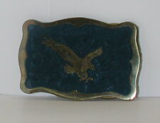 Eagle Blue and Bronze Colored Belt Buckle SUPER COOL!