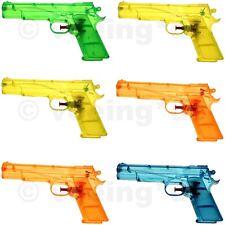 6x Wasserpistole Wasser-Pistole Spritzpistole Kanone Transparent Klassiker 20 cm