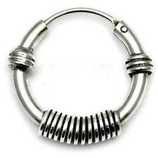 Para Hombre Plata 925 Estilo Bali hoop/sleeper 12mm X 1 Solo pendiente