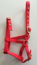 Foal Headcollar, Nylon Brass, Foal, Shetland, Mini, RED, FREE UK Postage