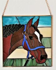 Paard, Glaskunst, Tiffany, Glaspaneel, Uniek, One of a Kind, Suncatcher,