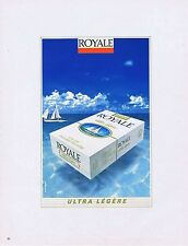 PUBLICITE ADVERTISING 045 1983 ROYALE cigarettes Ultra Légère