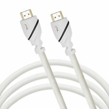 Jumbl High-Speed HDMI Cable 10 Ft Supports 3D & 4K Resolution, Ethernet - White