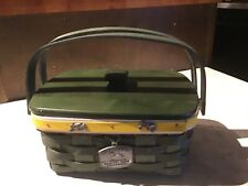 Longaberger 2009 John Deere Christmas Basket Combo With Lid & Pewter Tie-on Rare