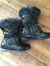 Party Boots with Upper Leather Buckle Shoes for Girls