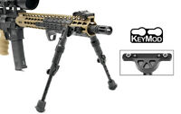 "UTG Recon Flex KeyMod Bipod Aircraft Aluminum Matte Black Center Height 5.7""-8"""