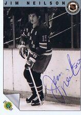 Jim Neilson 1992 Ultimate Autograph #25 Rangers