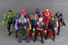 Avengers Infinity War 10 Pcs Action Figure Set Iron Man Thanos Toy Decor