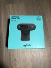 Logitech C270 Webcam HD 720p Widescreen Video Calling & Recording Black New