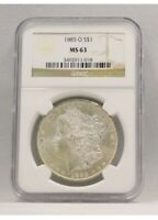 1885-O Morgan Silver Dollar - NGC Graded MS63