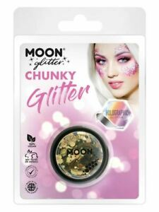 Moon Glitter Holographic  Chunky Glitter, Gold., Facepaint/Party Makeup