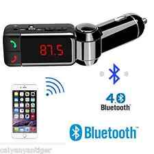 Bluetooth Car Dual USB Charger Handsfree MP3 Player FM Transmitter For IPhone