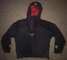 Vintage Starter Puffer Anorak Hooded Jacket Chicago Bulls Womens Size Medium
