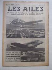 AILES 1938 894 SNCAN MEAULTE RALLYE LYON CANNES LICTEUR EMPENNAGE CANT Z-1012