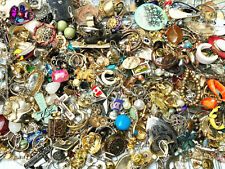10 LBS! Vintage to now EARRINGS jewelry lot 1000+ singles pair CRAFTS REPURPOSE