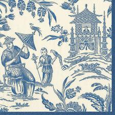Blue silk Road toile Caspari nouveau luxe papier serviettes 20 en Pack