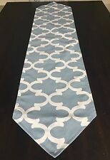 Pointed End Table Runner Dining Moroccan Lattice Grey