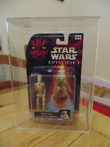 Star Wars Episode 1 Battle Droid Master Yoda Carded AFA not CAS UKG