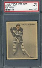 1933 World Wide Gum Ice Kings - Red Beattie #29 - PSA 5 EX