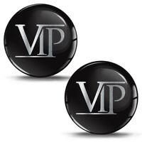 3D Silikon Aufkleber VIP Silber Logo Sticker Helm Auto Motorrad Fahrrad Emblem