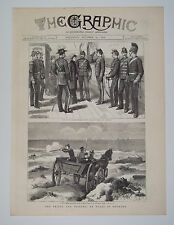 Denmark The Prince And Princess Of Wales Visit Danish Hussars 1879 Vintage Print