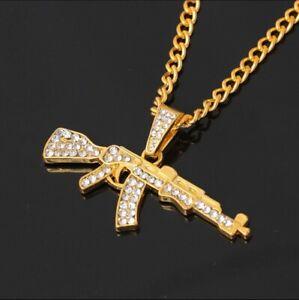 AK47 Gun Pendant Necklace Chain