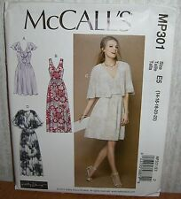 Womens/Misses Fitted Dresses Sewing Pattern/McCall's MP301/SZ 14-22/UCN