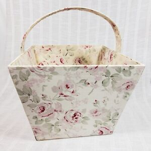 Simply Shabby Chic Rosalie Fabric Storage Basket RARE Target 2004 Rachel Ashwell