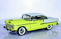 1:18 Ertl Chevy Bel Air '55 HT neptune green, coral, gypsy red, or harvest gold