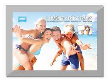 Shot2go Magnetic Photo Fridge Frame Pockets Silver Border 4x6 2 Pack