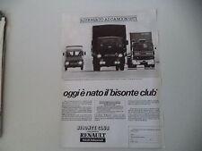 advertising Pubblicità 1979 RENAULT FURGONE SAVIEM/SAVIEM SERIE J/BERLIET 350