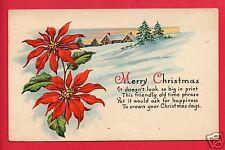 MERRY CHRISTMAS 1925 LUTHERAN SANITARIUM WHEAT RIDGE CO STAMP GERLACH   POSTCARD