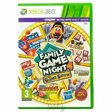 Hasbro Family Game Night 4 (Xbox 360) Show Bundle Connect 4 Boys Family Kids PAL