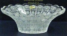 "Bohemia Crystal Oval Bowl, Queen Lace, 12"" , Hand Cut, Czech Republic"
