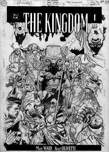 ARIEL OLIVETTI -  Alex Ross KINGDOM #1 DC cover, Gog kills Superman X 16 - 1998