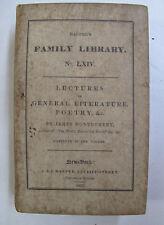 Poems History Criticism Lectures Gen. Literature Poetry Montgomery Harper's 1833