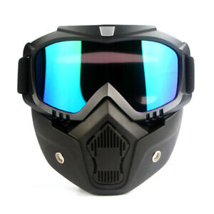Off road motorcycle goggles bike helmet mask goggles removable mask goggles