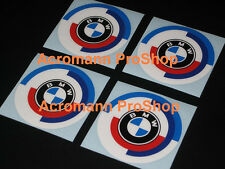 "4x 2.2"" 5.5cm 55mm BMW vintage Cap Decal Sticker wheel alloy E30 E36 E46 E28 E34"