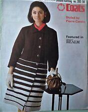 Vintage 1960 s Tricot Motif Pierre Cardin Femmes CREATEUR mod manteau original