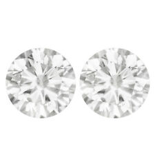 3.06 TCW PAIR 7.58MM IF White H MOISSANITE Sub to DIAMOND for Stud EARRINGS