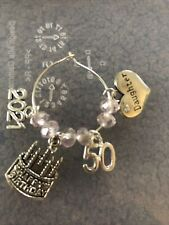 1 X 50th / 40th / 30th/ 21st Or 18th Daughter Birthday Wine Glass Charm 2021