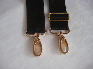 Tragegurt braun Schulterriemen Gurtband Karabiner Schieber Gold Schultertasche