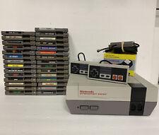 Nintendo Entertainment System NES Console Bundle w/ 29 Games & 2 Controllers