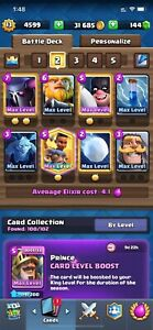 LVL 13 Clash Royale 15 MAX CARD / 30K+ GOLD / ANDROID&IOS