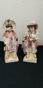 2 x Ceramic Figurines I am off for a long journey off with Him pair ? Fairings